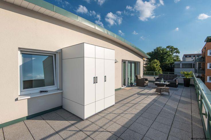 Terrassenschrank - Balkonschrank auf Dachterrasse in Regensburg