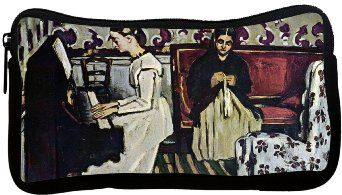 Amazon.com: Rikki KnightTM Paul Cezzane Art Girl at Piano Neoprene Pencil Case: Office Products
