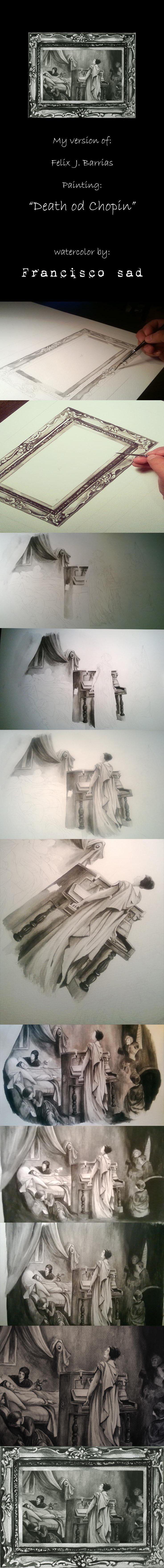 tutorial, watercolor inspired in chopi dead night