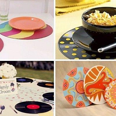 Decoração com vinil -> http://www.blogsdecor.com/blogdactylo/5-maneiras-de-reutilizar-disco-vinil/ #vinil #decoração #diy