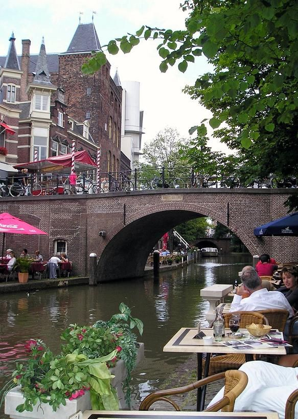 Sitting by a canal in Utrecht, The Netherlands