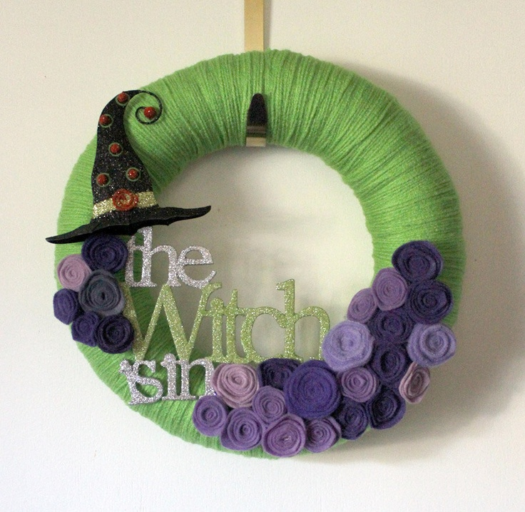 """Witch Wreath < would be cute if people knew you were a Witch and/or if you had an herbal shop {could be used as an """"open"""" sign}."""