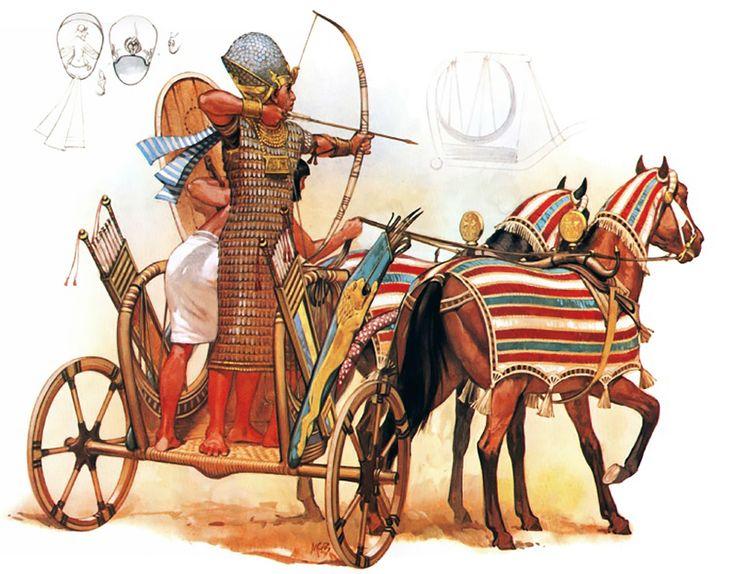 """Chariot of Pharaoh Rameses II, 1288 BC""   Angus McBride"