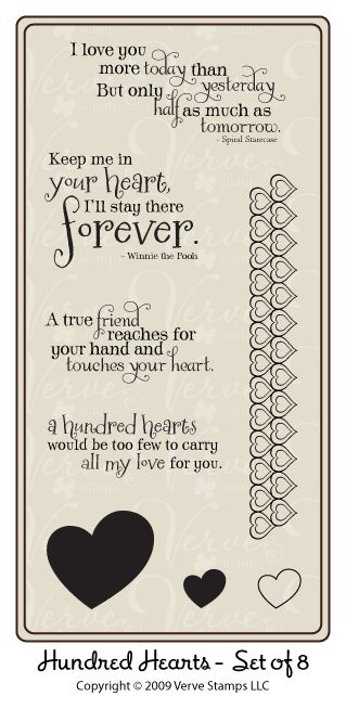 friendly heart verses stamp set