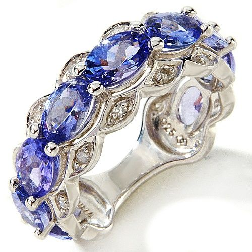 ✯ Tanzanite and diamond ring ✯