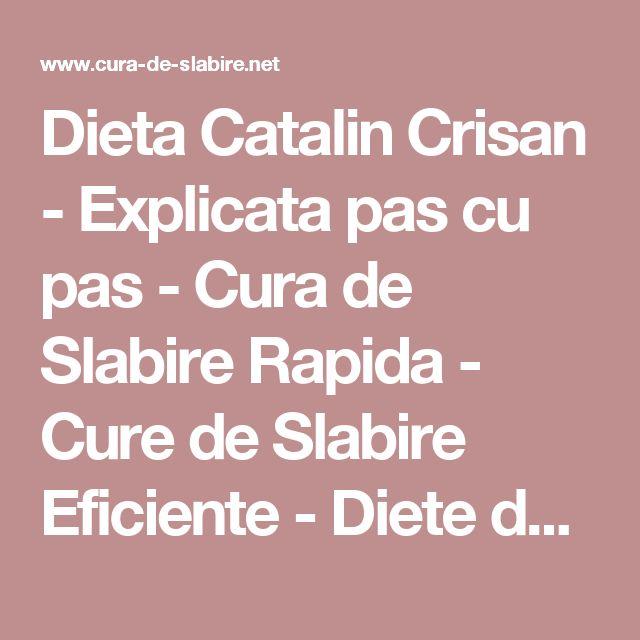 Dieta Catalin Crisan - Explicata pas cu pas - Cura de Slabire Rapida - Cure de Slabire Eficiente - Diete de Slabit si Pierdere in Greutate