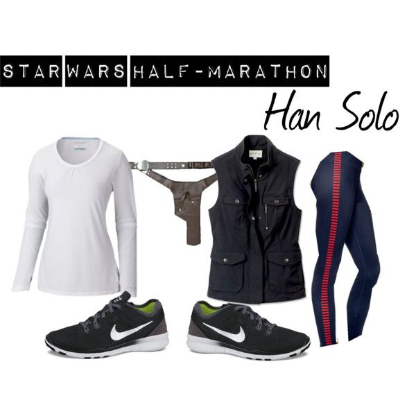 Star Wars Half-Marathon: Han Solo by nerdmostlikely on Polyvore featuring NIKE