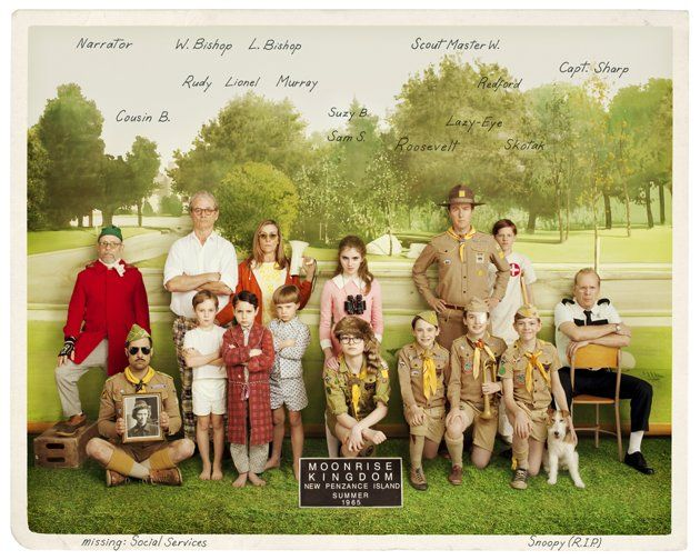 Cute Vintage Photo Of The Cast Of Characters In Wes Anderson's 'Moonrise Kingdom' | The Playlist