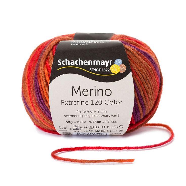 Schachenmayr Merino Extrafine Color 120 ist unübertroffen fein und kuschelweich, dank höherer Zahl an Einzelfäden.