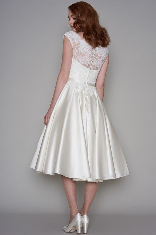 The 21 best 50\'s Dresses images on Pinterest   Short wedding gowns ...