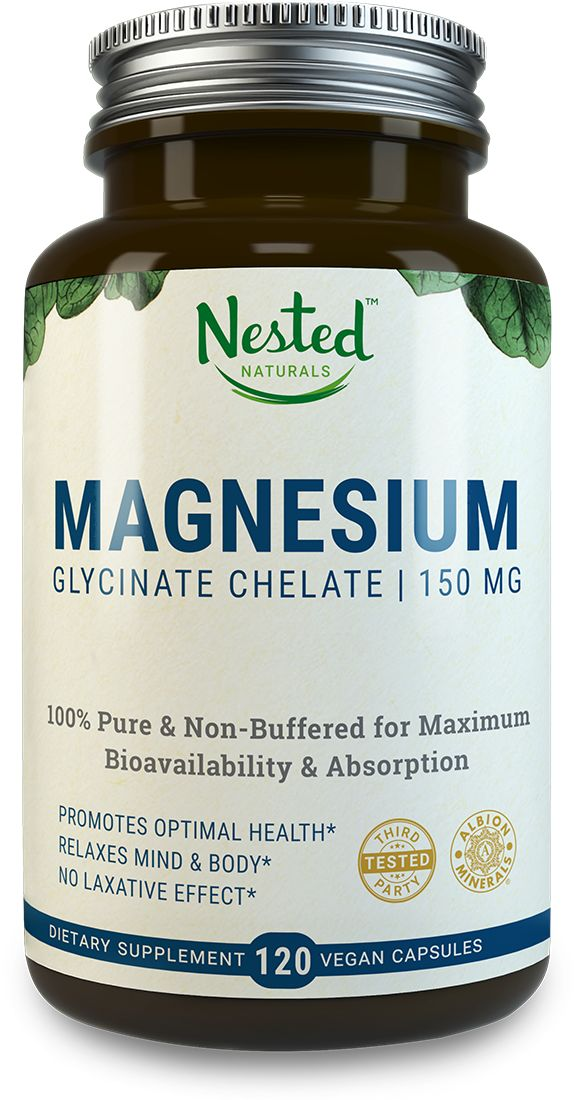 Magnesium Glycinate Chelate is pure and non-buffered for maximum bioavailibility & absorption