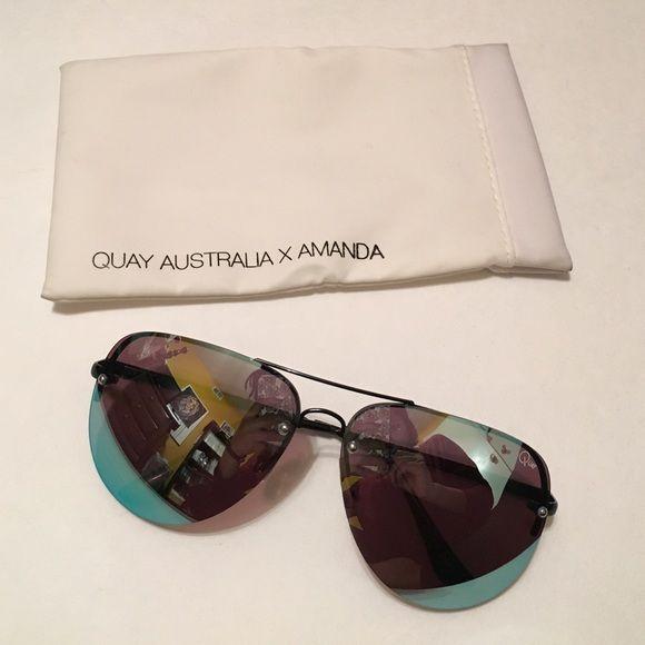 Quay x Amanda Sunglasses The popular sunglasses by Quay x Amanda Steel Worn a few times, wonderful condition with Case Quay Australia Accessories Sunglasses