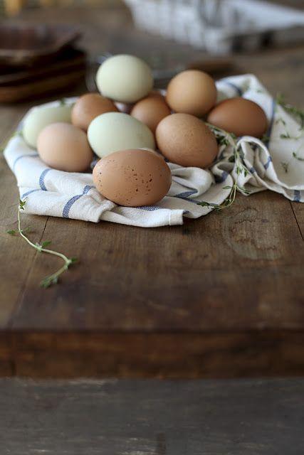 Farm-fresh eggs, so pretty.