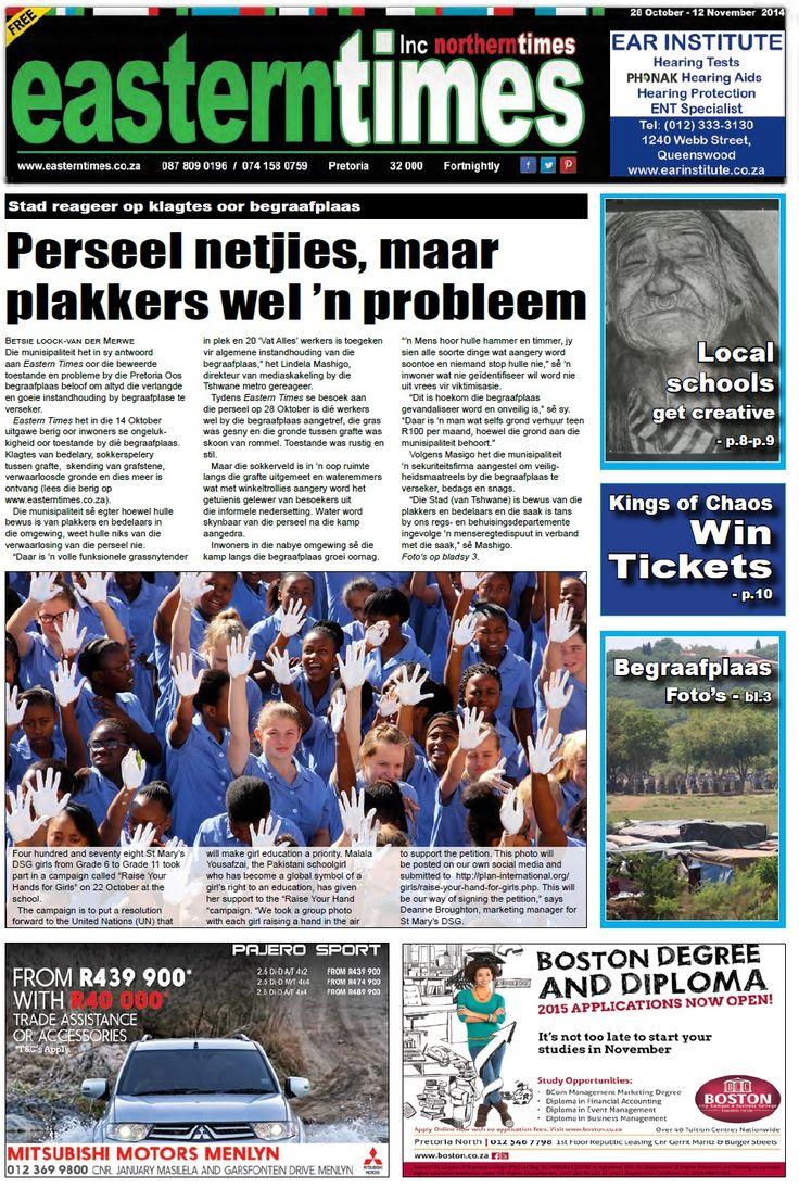 Front page 28 October - 12 November
