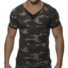 Men's wholesale camo muscle tight fitted short sleeve v neck camouflage color wholesale camo t shirts  best buy follow this link http://shopingayo.space