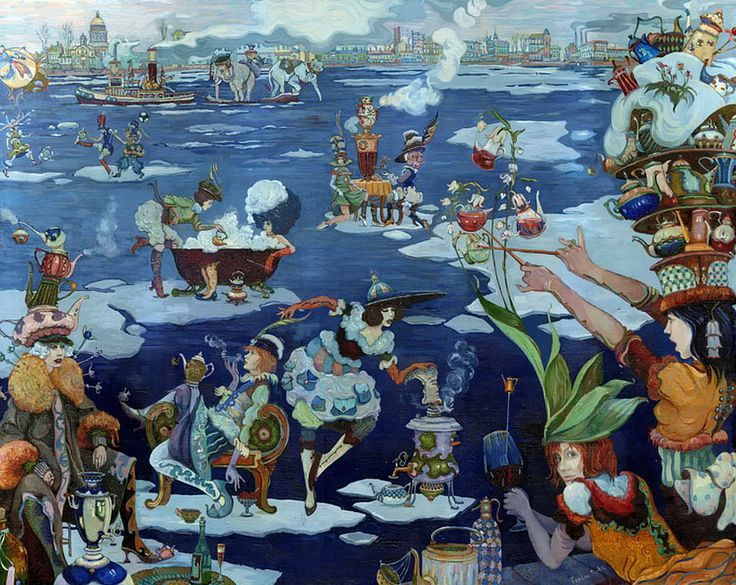 Saint Petersburg. Neva Tea Party. Fragment by Piotr Frolov_Пётр Фролов. Невское Чаепитие