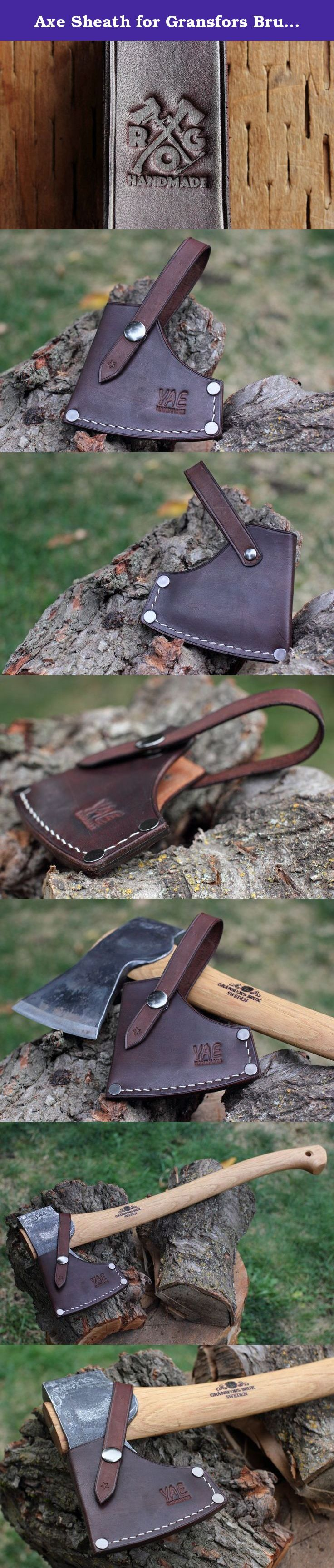 Axe Sheath for Gransfors Bruk Small Forest Axe (Dark Brown) (Dark Brown). This sheath is designed specifically and exactly for the Gransfors Bruks (or Bruk) Small Forest Axe Axe. It is made out of full-grain vegetable-tanned cowhide. You can leave it this way, or you can treat it with an oil/product of your choice. The sheath is handmade in Spokane, Washington. The construction of the sheath starts with three pieces of leather: the main body of the sheath, the securing strap and the welt....