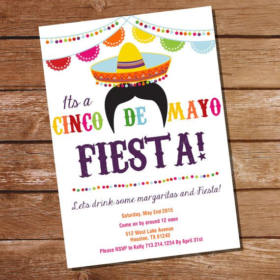 Cinco De Mayo Fiesta Invitation  Mexican Fiesta by SunshineParties on #Etsy........so lovely! #CincoDeMayoInvitation #FiestCincoDeMayoInvitation