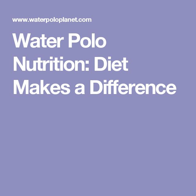 Water Polo Nutrition: Diet Makes a Difference