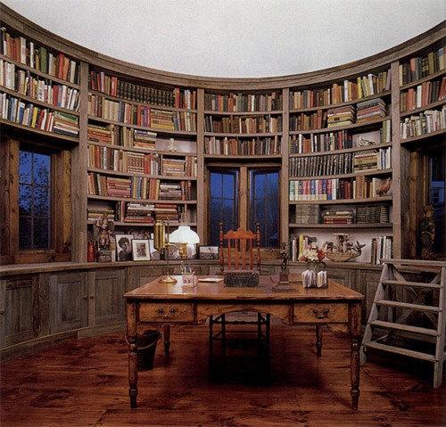 loftylovin ? Library Room In Silo of Barn Home