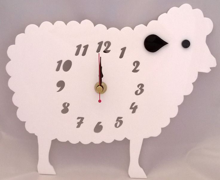 Handmade acrylic 'Baa-bra the sheep' clock!  Designed and laser cut in Pembrokeshire, South West Wales!   Pinky Bear Designs https://www.facebook.com/PinkyBearDesigns