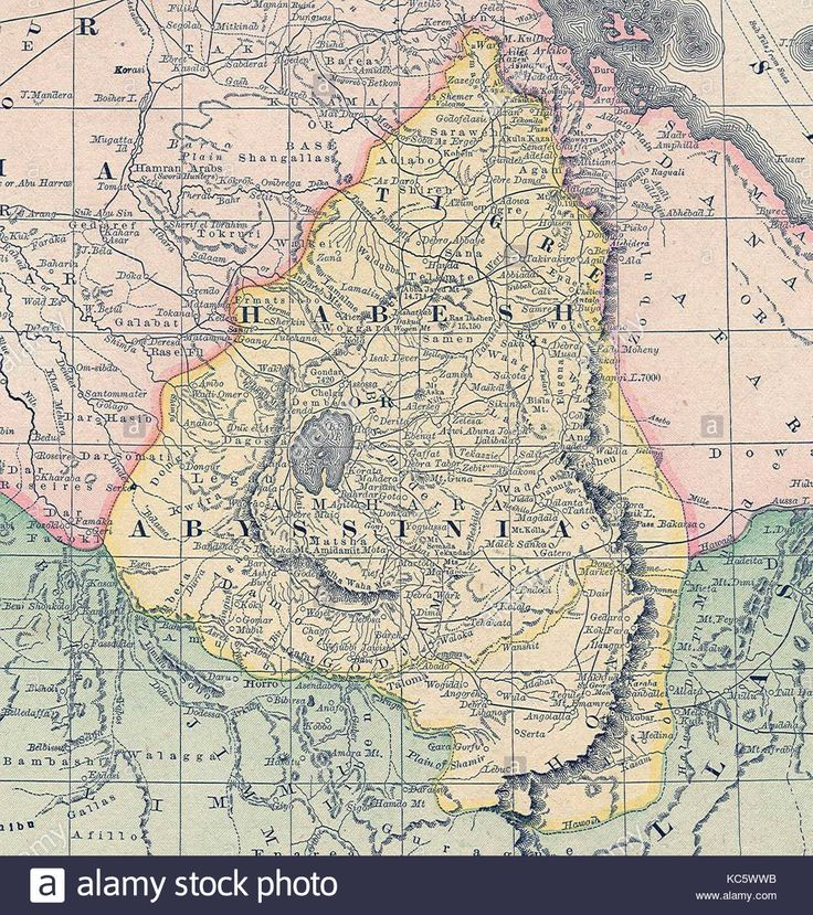 Africa Map Somalia%0A Download this stock image  Map of Abyssinia  Ethiopia  in the   th century