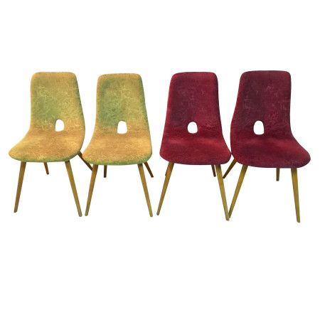 A set of four easy chairs by Miroslav Navratil
