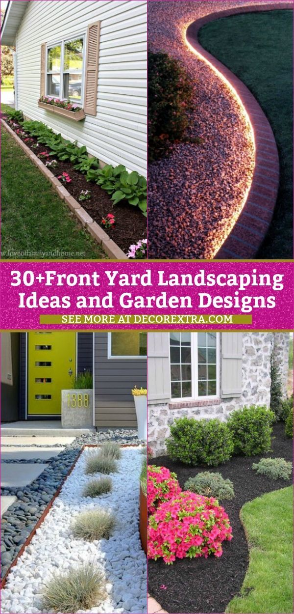 30 Amazing Diy Front Yard Landscaping Ideas And Designs For 2019 Front Yard Landscaping Diy Front Yard Garden Front Yard Landscaping