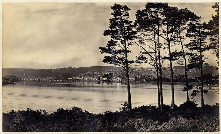 Bideford England Large vintage albumen photo Frith series 1865c L527