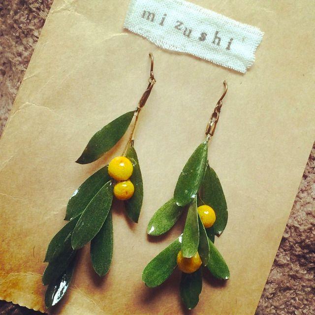 minne(ミンネ)| 【再販☆】大人かわいい♪ オリーブの木ピアス