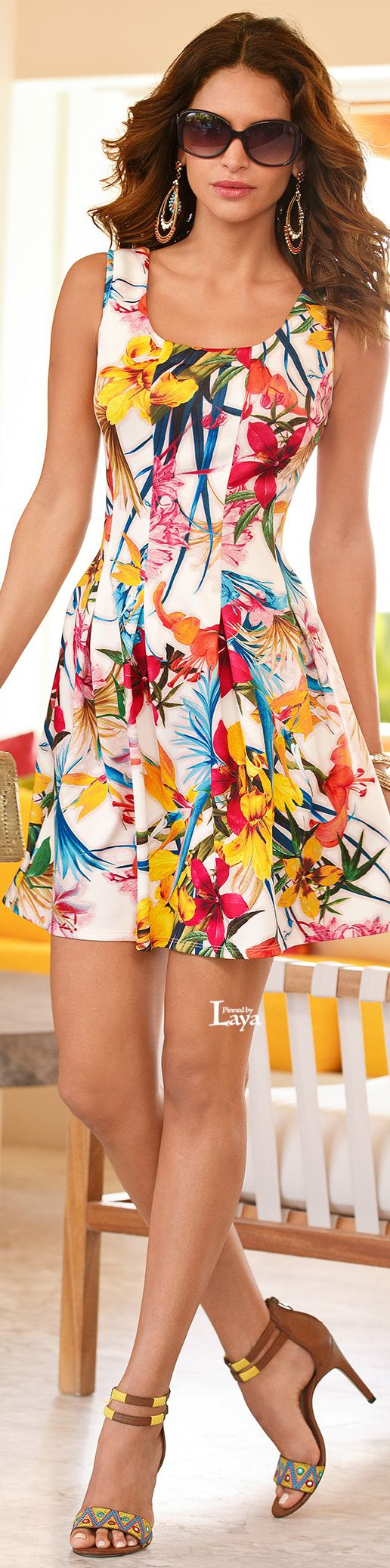 Boston Proper ~ Summer Floral Mini Dress