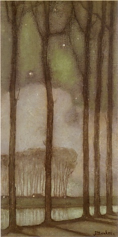 ☼ Painterly Landscape Escape ☼ landscape painting by Jan Mankes | May Night