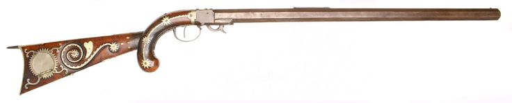 A unique percussion underhammer muzzleloading rifle originating form New England, date to the 1830. For Sale: $12,500