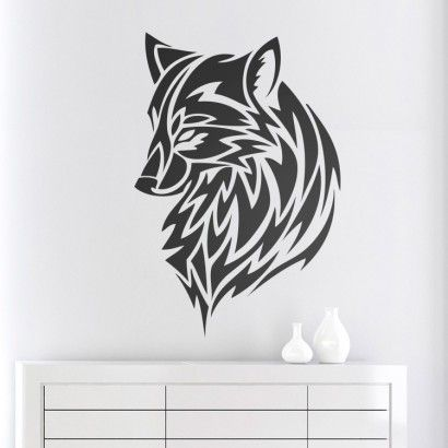 Wolf - Moon Wall Stickers