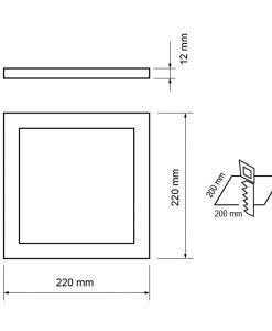 Panou de incorporat LED, patrat, 24Watt, SMD5630, lumina neutra