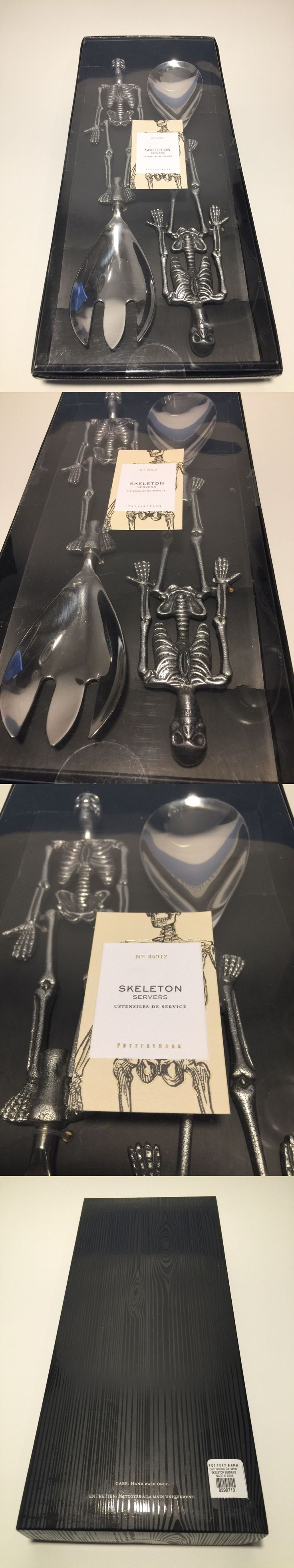 Serving Utensils and Sets 137750: Pottery Barn Halloween Party Skeleton Server Set Serving Utensils New -> BUY IT NOW ONLY: $49 on eBay!