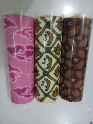 Batik Roll Cake //Megamendung, Sidomukti, Kawung