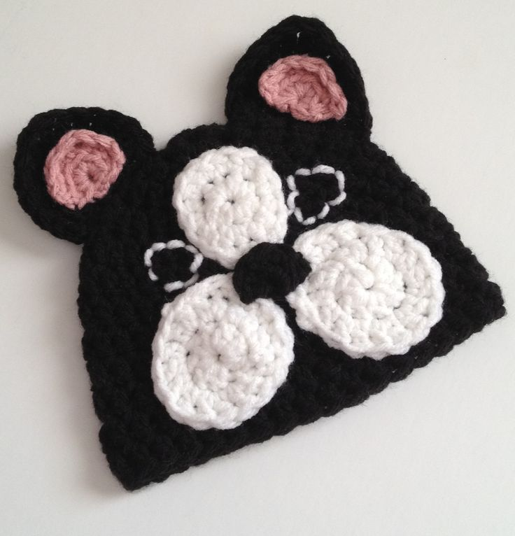 French Bulldog Hat $25 available in: 0-3 month  3-6 month 6-12 month 1-3 years 3-8 years 8-adult