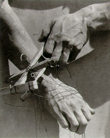 "Hands of the puppeteer Modotti ""Masterful hands directing a difficult and magical medium."" KB"