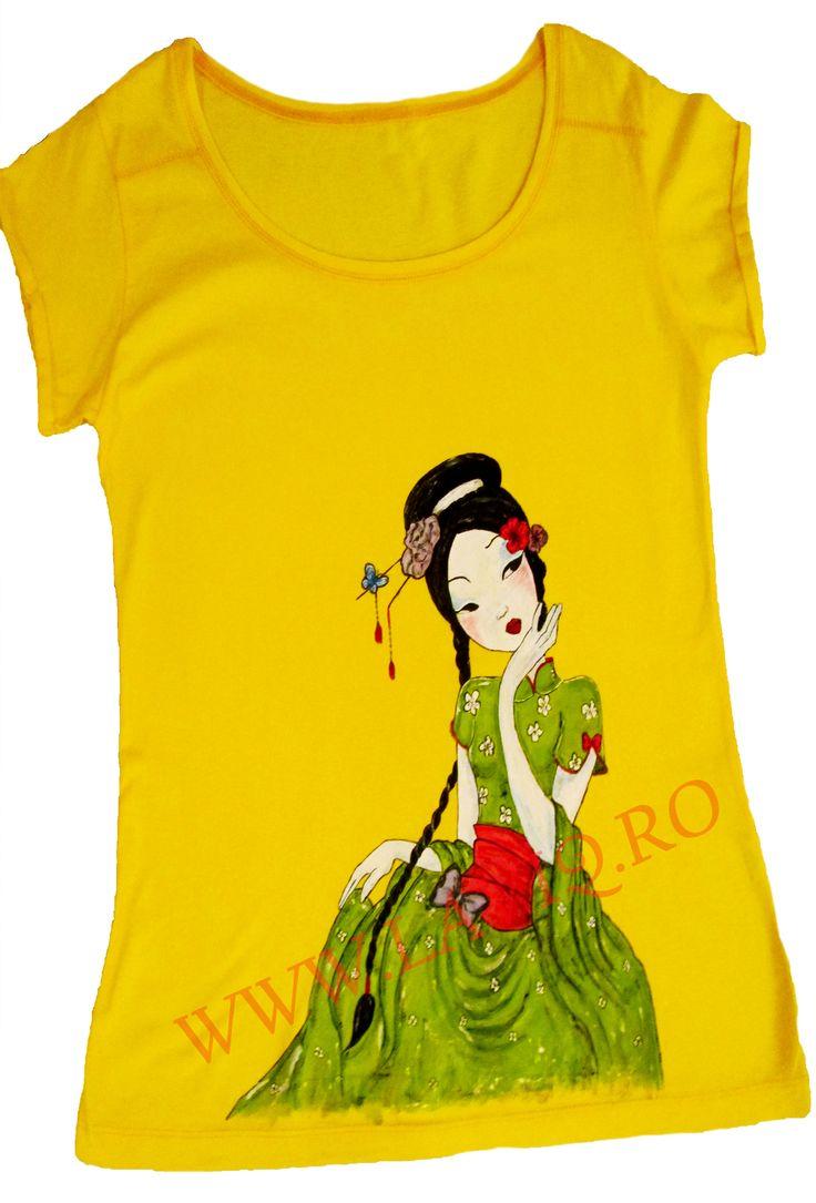 Tricou pictat JAPANESE 4     www.laviq.ro www.facebook.com/pages/LaviQ/206808016028814
