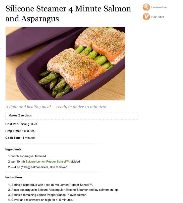 Epicure Steamer Salmon and Asparagus