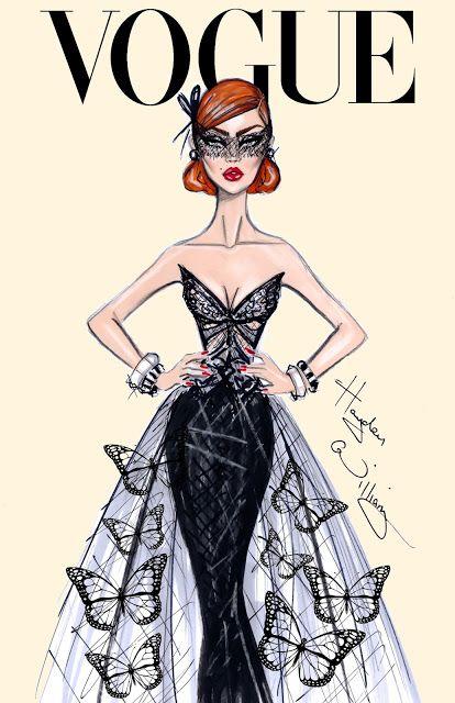 #Hayden Williams Fashion Illustrations #'Butterfly Effect' by Hayden Williams