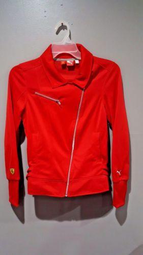 Scuderia Ferrari Women s Bias Zip Moto Jacket by PUMA Sport Lifestyle Size  M Red  f596434e3d1c6