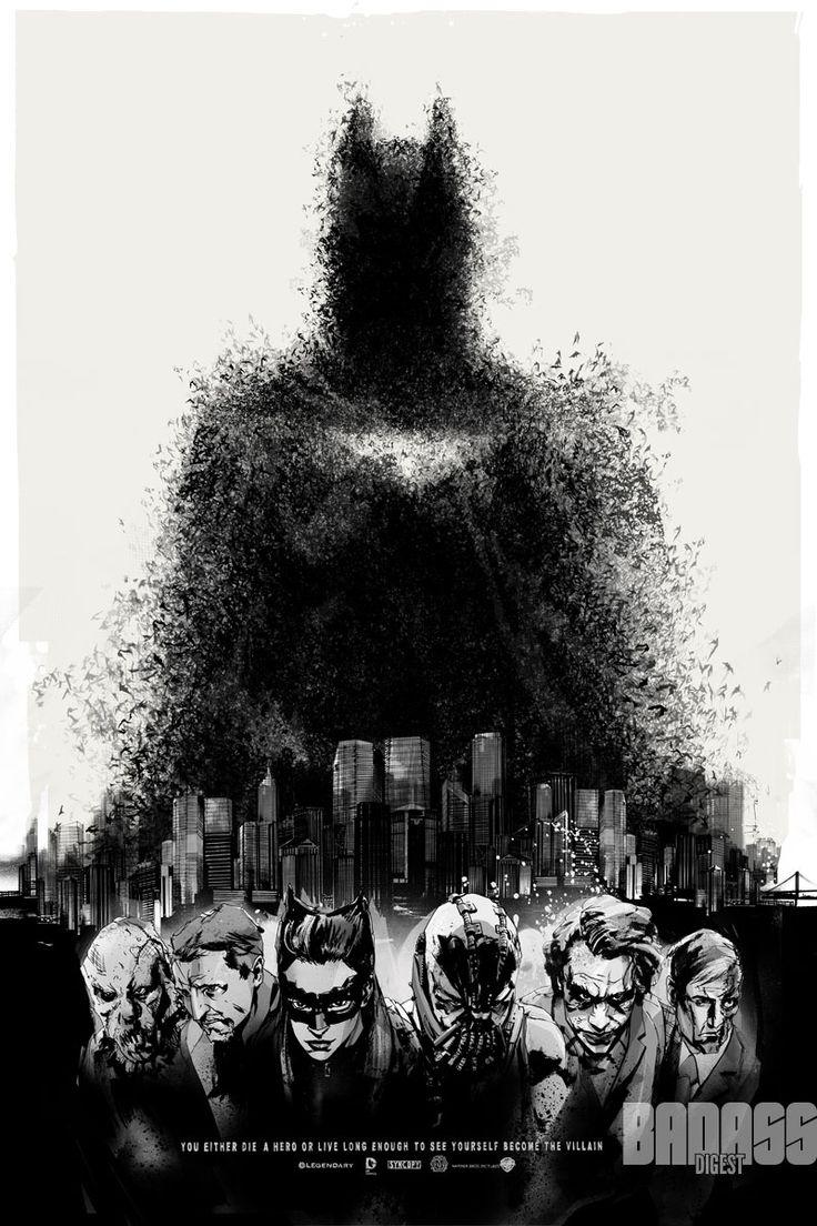 The Dark Knight Rises posters by Jock for Mondo: Comic Con, Knights, Comic Con, Comic Book, Movie, Batman, Dark Knight, World Poster