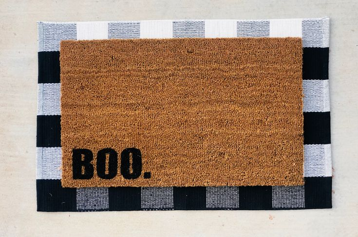 Halloween Doormat Welcome Mat Fall Decor Door Mat | Etsy ...