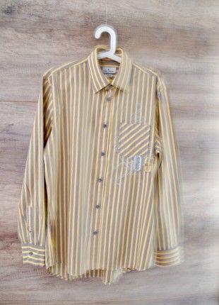 Kaufe meinen Artikel bei #Kleiderkreisel http://www.kleiderkreisel.de/herrenmode/gestreifte-hemden/158419889-tom-tailor-pure-cotton-langarm-herren-hemd-grl-gelb-grau