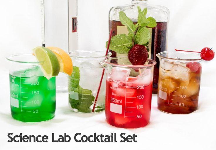 Med Lab Supply 10 piece Chemistry Bar Beaker Cocktail Glass Set   Med Lab Supply