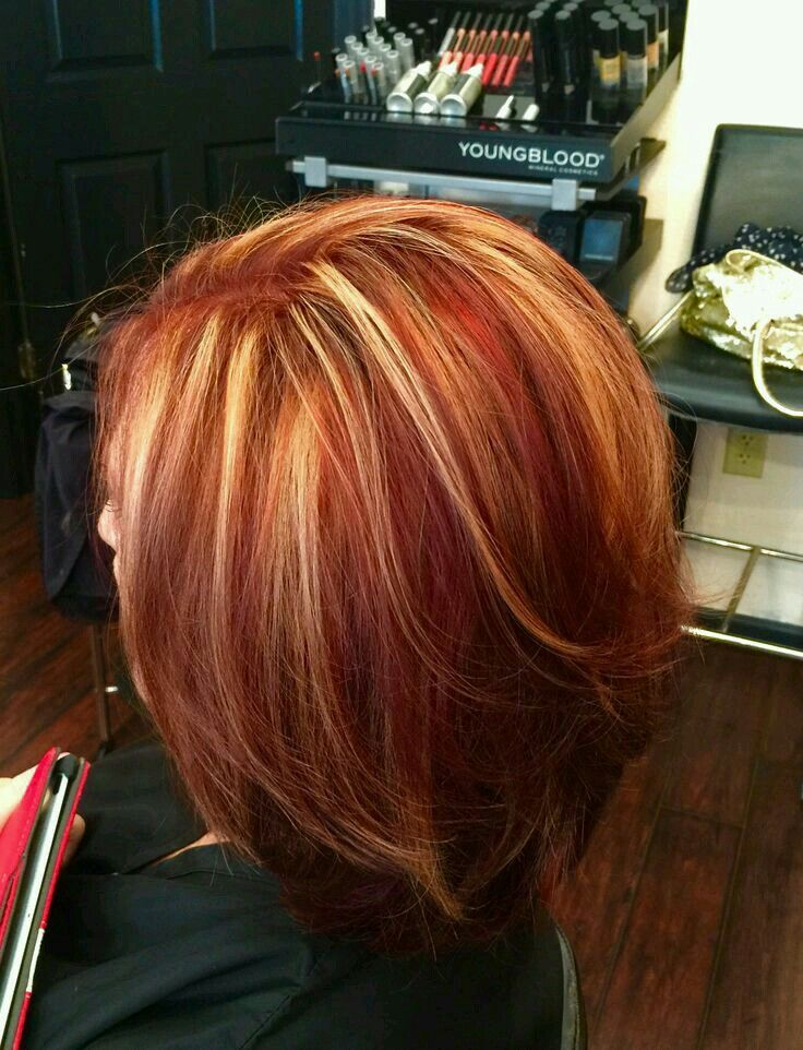 Red blonde highlights