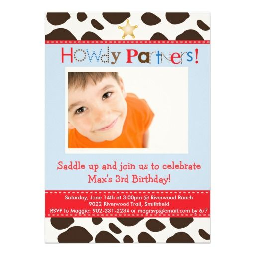 25+ Best Ideas About Cowboy Party Invitations On Pinterest