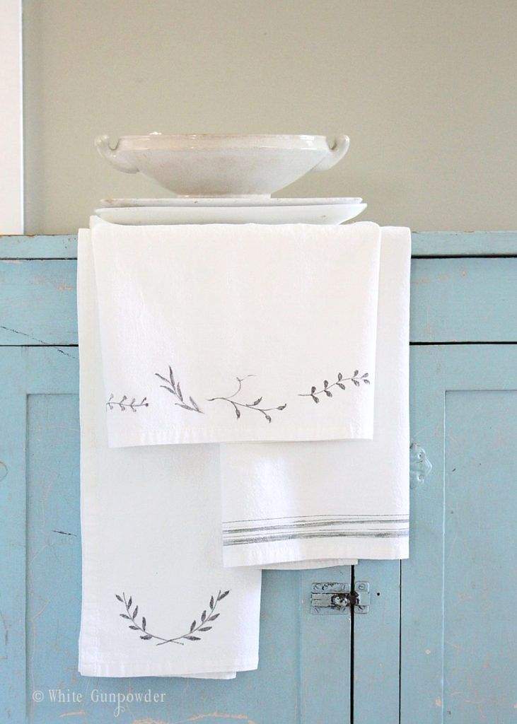 diy Flour sack towels                                                       …
